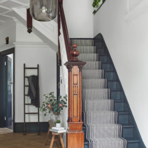 Passage d'escalier tissé plat